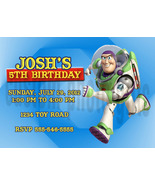 Personalized Toy Story Buzz Lightyear Birthday Invitation Digital File - $8.00