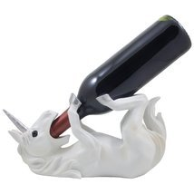 Drinking Magical Unicorn Wine Bottle Holder Display Stand Decorative Sta... - $24.99