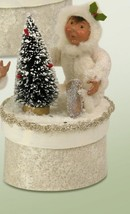 "Byers' Choice 6.5"" Winter White Glitter Yule Box Toddler Frosted Christmas Tree - $39.20"