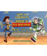 Personalized Toy Story Woody and Buzz Lightyear Birthday Invitation Digi... - $8.00