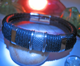 Haunted BRACELET PROTECTION AGAINST CURSES MAGICK 925  LEATHER WITCH Cas... - $35.00
