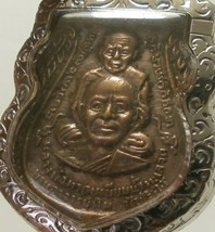 LP TUAD & TIM THAI STRONG PROTECTION REAL BUDDHA AMULET LUCKY RICH PENDANT RARE image 2