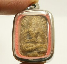 PHRA SOMDEJ LP PUEK THAI POWERFUL MAGIC BUDDHA AMULET REAL BUDDHIST RARE PENDANT image 2