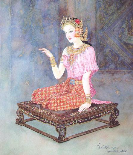 TINY NANG KWAK LADY LUCKY RICH TRADE THAI BUDDHA AMULET CHARM THAILAND TALISMAN image 2
