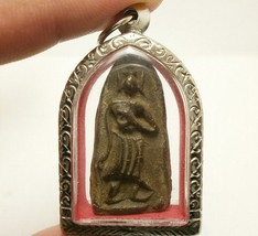 THAI POWERFUL AMULET LP BOON LEELA BUDDHA REMOVE OBSTACLES LUCKY SUCCESS PENDANT image 1