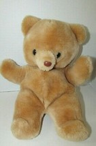 Russ Berrie Honey Brown Tan Plush Teddy Bear 592 Stuffed Animal vintage ... - $71.27