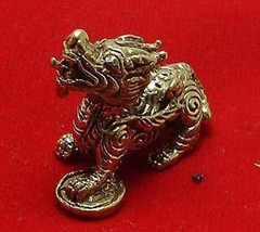 PI YAO DRAGON WEALTH ATTRACTION CHINESE MINI AMULET LUCKY MONEY RICH THAI GIFT image 1