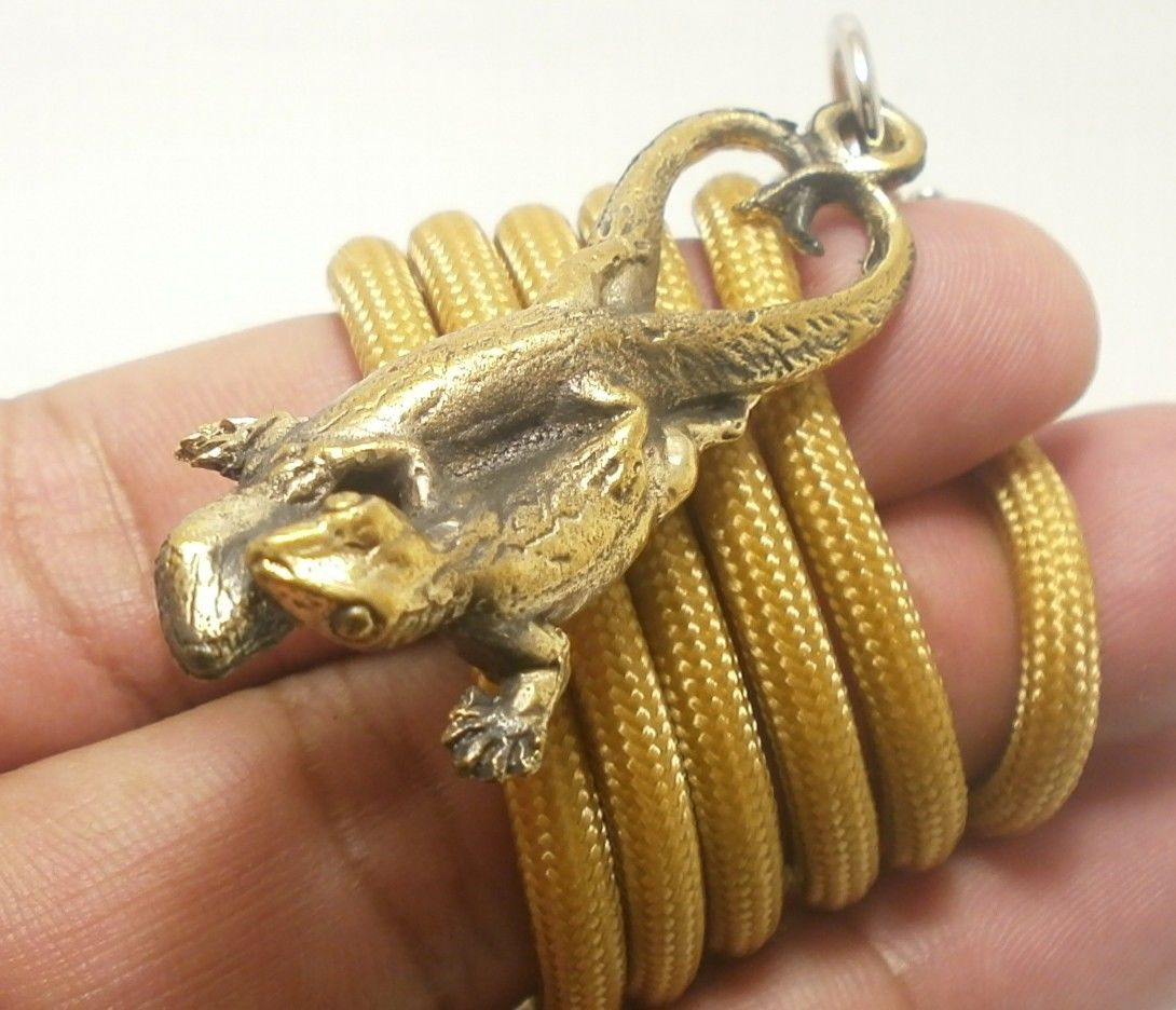 THAI AMULET LOVE SEX APPEAL DUO GECKO PENDANT ATTRACTION NECKLACE THAILAND GIFT image 5