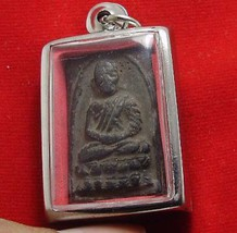 LP TUAD THUAD THAI STRONG PROTECTION BUDDHA AMULET SUCCESS LUCKY HAPPY PENDANT image 3