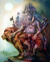HINDU MINI AMULET GANAPATI VINAYAKA GANESH LORD GANESHA OM GOD OF SUCCESS DEITY image 2