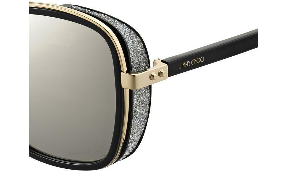 JIMMY CHOO ELVA/S Black Gold/Grey Mirror (2M2/T4 A) Women's Sunglasses  image 3