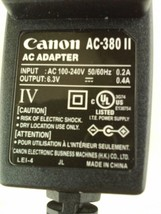 Canon Power Supply Adapter AC-380 II AC/DC 6.3V 0.4A - $8.24