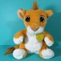 "Disney Lion King Talking Simba Cub 12"" Plush Stuffed Animal Vintage 1993... - $29.95"