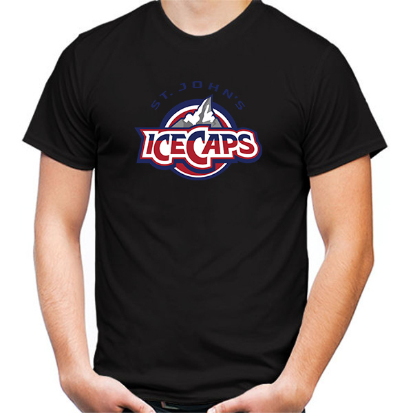 Primary image for St. John's IceCaps Tshirt Black Color Short Sleeve Size S-3XL