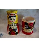 Vintage RUSSIAN Matryoshka Doll Vodka Holder Souvenir Russia WOODEN Matr... - $9.95