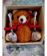 Teddy Bear Baby Baby's First Feeding Souvenir Spoon Fork - $6.99