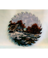 Hand Painted Saw Blade Old Barn Winter Scene Custom Order Metal Art Wall... - $35.00