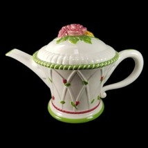 Royal Albert Old Country Roses Seasons of Colour Teapot Green Trim Pink ... - $53.20