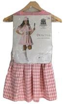 Detective Costume Halloween Adult Women Medium 8 to 10 size Pink Franco 49701 - $11.88