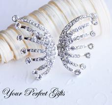 Rhinestone Crystal Brooch Pin Wedding Cake Decoration - $22.00