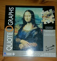 New Quote O Graphs Mona Lisa 1000 Piece Puzzle By Sure-Lox With Wall Poster - $28.70