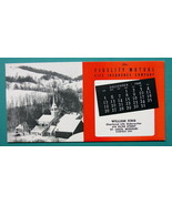 INK BLOTTER 1948 - AD Fidelity Mutual St. Louis Missouri & Snowy Town in... - $4.04