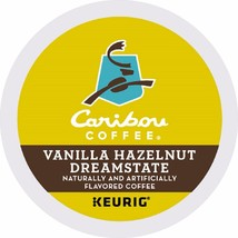 Caribou Vanilla Hazelnut Dreamstate Coffee 96 count Keurig K cups FREE S... - $62.63