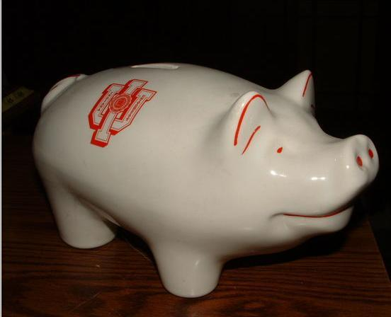 1961 INDIANA UNIVERSITY PIG BANK / MINT