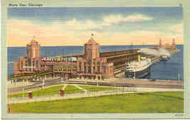 The Navy Pier, Chicago vintage  Post Card - $3.00