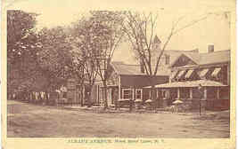 Albany Avenue West Sand Lake New York vintage 1917 Post Card - $3.00