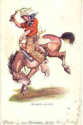 The Broncho Buster Post Card