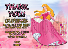 Personalized Disney Sleeping Beauty Thank You Card Digital File, You Print - $8.00