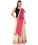 Golden Jaipuri Skirt with Pink Dupatta- SNY18237 - $26.00