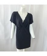 Motherhood Maternity Womens Black White Polka Dot Tunic Short Sleeve Top... - $19.80