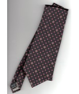 Christian Dior Monsieur Mens Tie Black Print Silk - $25.00
