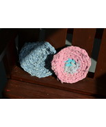 """Handmade Scrubbies (Dishcloth & Potholders) Pink and Blue 1/2"""" Thick RRM095 - $2.69"""