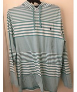Polo Ralph Lauren Men's  Striped Cotton Hooded Tee Hoodie XLT NWT - $39.96