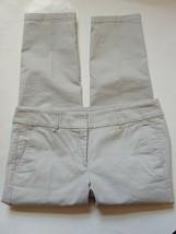 Ann Taylor Loft Marisa Cropped Capri Pants Womens Size 8 Petite Khaki St... - $21.78