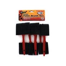 "Bulk Buys MS092-72 6-1/2"" Long Plastic Styrofoam Foam Paint Brush Set - Pac - $117.55"