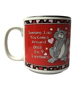 """Russ Berrie Red """"Someone Like You Comes Around Once in 9 Lifetimes"""" Cat ... - $26.99"""