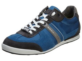 NEW HUGO BOSS MEN'S PREMIUM SPORT SNEAKER SHOES AKEEN MEDIUM BLUE 50247604-421
