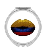 Lips Colombian Flag : Gift Compact Mirror Colombia Expat Country - £9.44 GBP