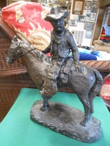 """QUALITY STATUE CRAFTERS Chalkware COWBOY Statue """"Round Up"""" - $58.99"""