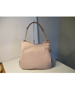 Authentic Michael Kors Lillie Large Shoulder Tote Soft Pink Pebbled Leat... - $197.99