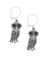 Goddess Athena's Wise Little Owl  - Sterling Silver Earrings with Hooks... - $44.00