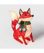 Lighted Woodland Fox Sculpture Pre Lit Outdoor Christmas Decor Yard Display - $98.50