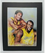 """Shaquille O'Neal Kobe Bryant Lakers Art Print by Haiyan Matted for Frame 20""""x16"""" - $88.98"""