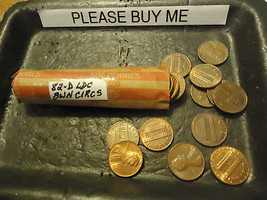 1982-D Ldc Brown Circs Cent Roll **L@@K** >> Combined Shipping - $1.73