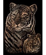 """Copper Foil Engraving Art Mini Kit 5""""X7""""-Tiger & Cub - $5.72"""