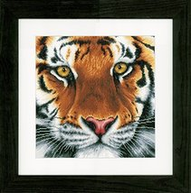 "Vervaco 14 Count LanArte Tiger On Aida Counted Cross Stitch Kit, 13.75"" x 13.5"" - $36.99"